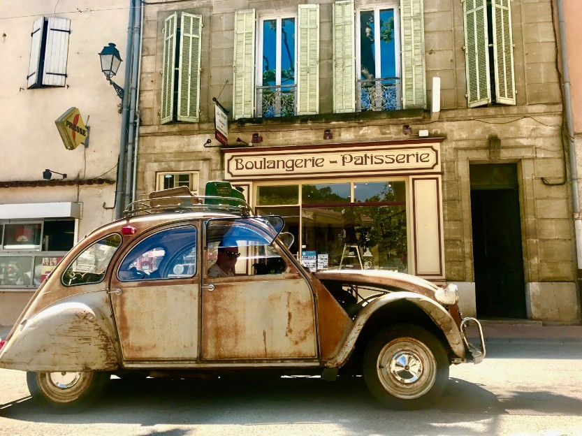 Citroen 2CV owned by a villager