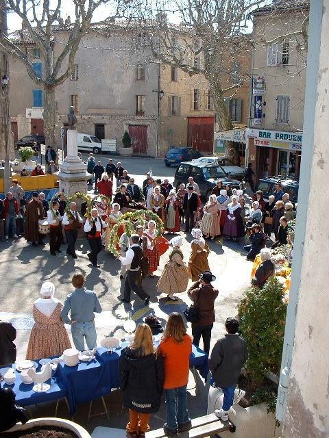 Dancing after the processions