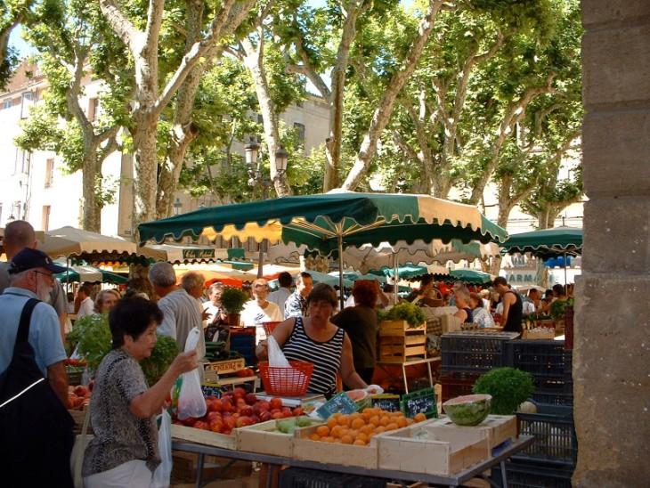 Aix market - fruit & veg