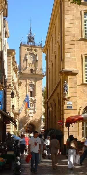 Clock tower in Aix-en-Provence