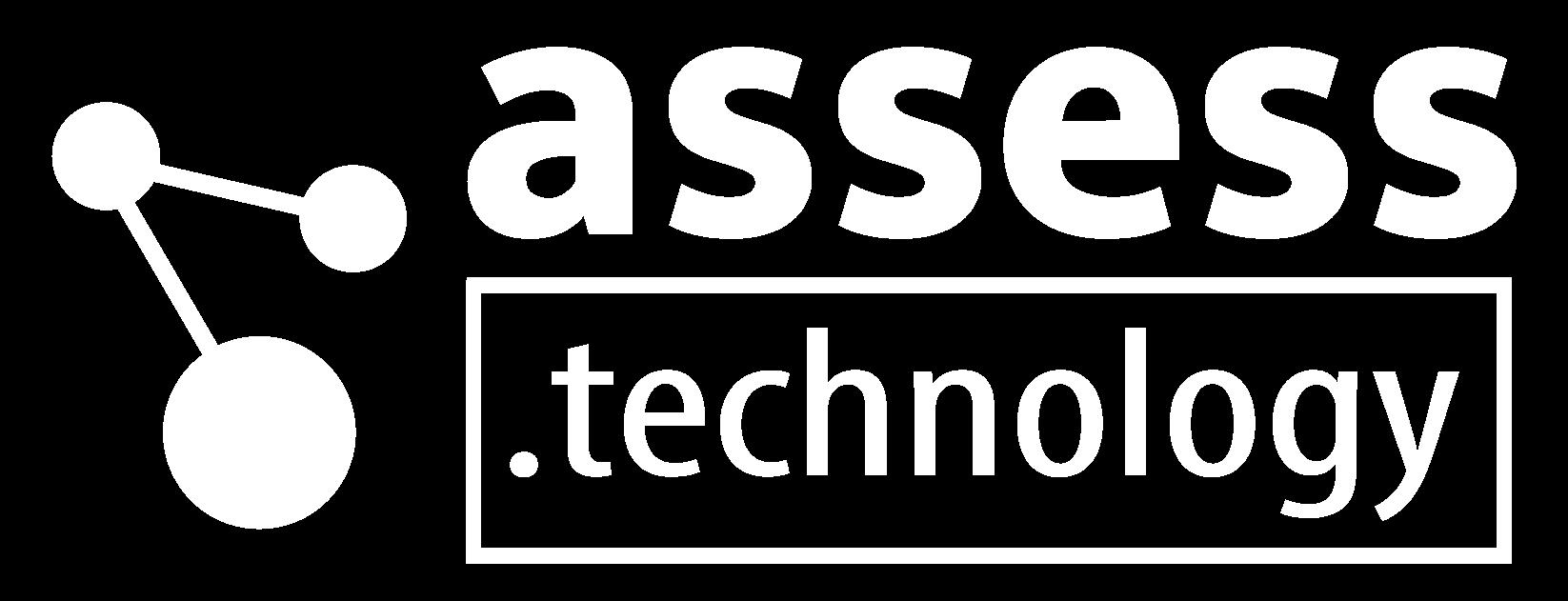 assess tech logo white