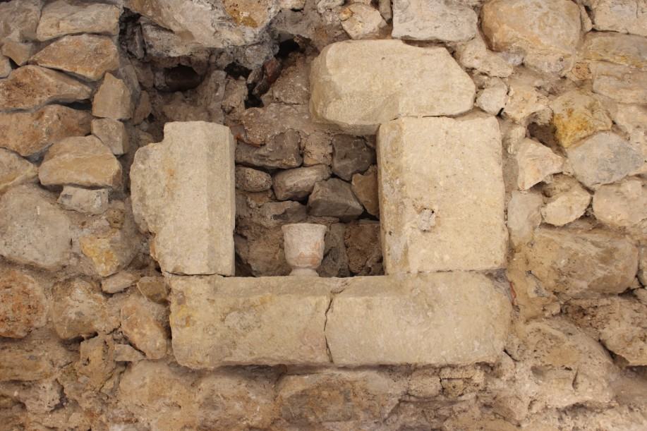 Discovered stone window