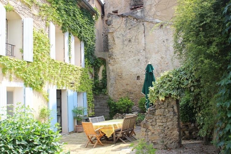 Courtyard from garden