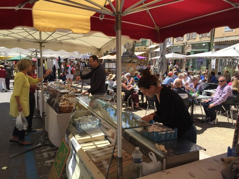 Market day food stalls