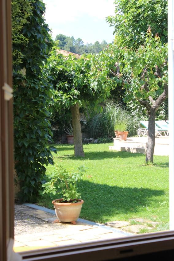 Kitchen view of the garden