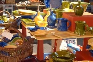 Pottery stalls