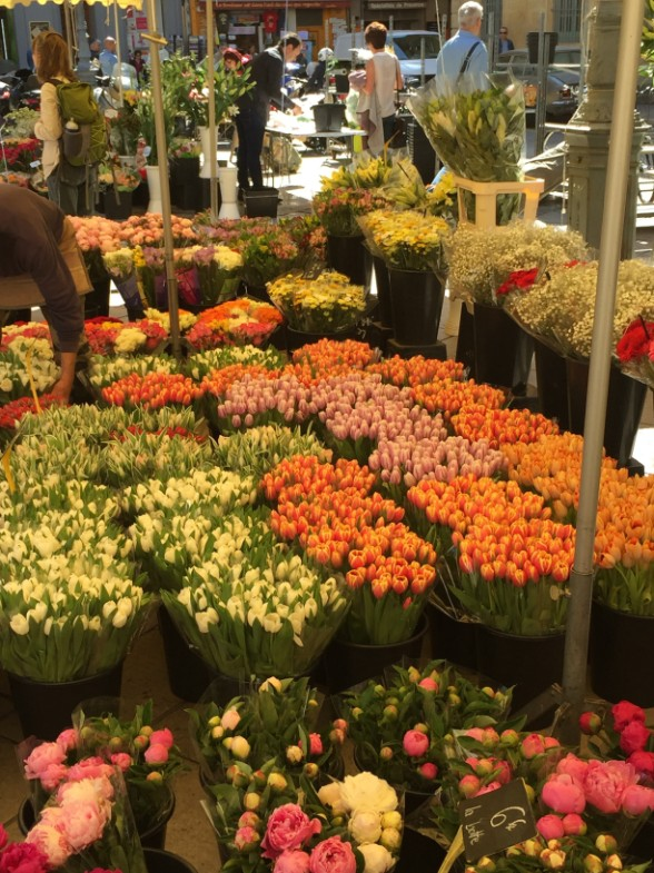 Aix market - part of the flower section