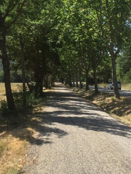 Part of the EV8 (EuroVelo - mediterranean cycling route)