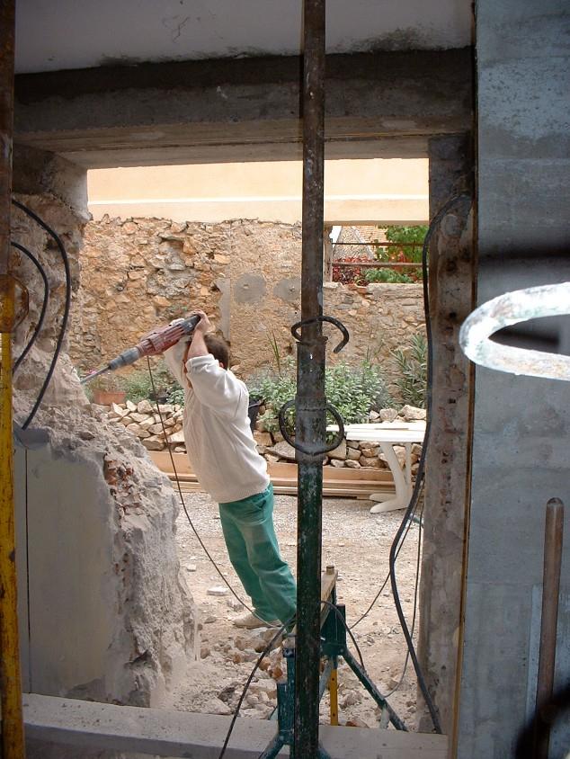 Enlarging of the back door