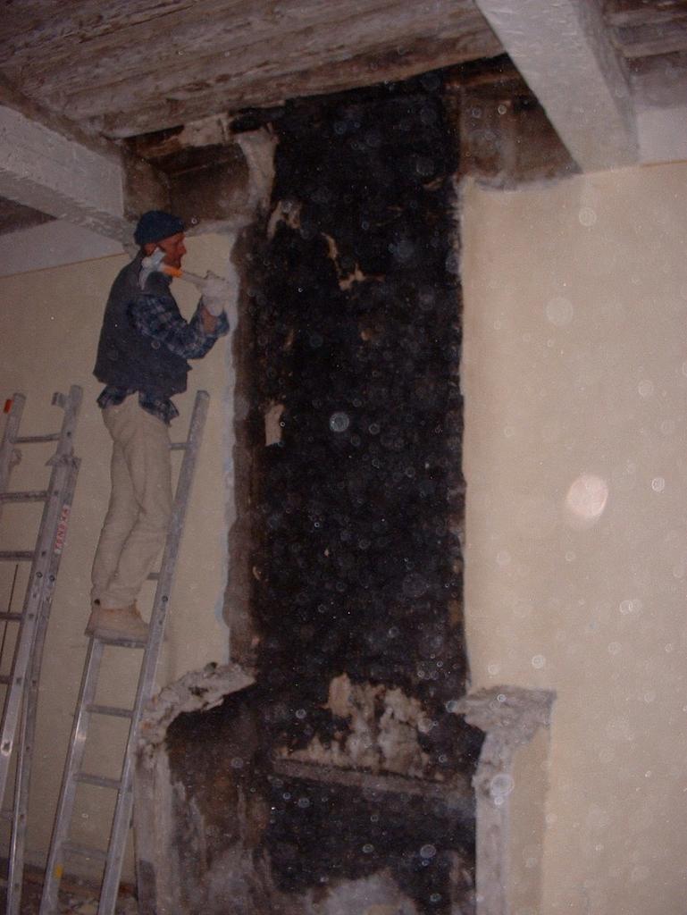 Demolition of the chimney