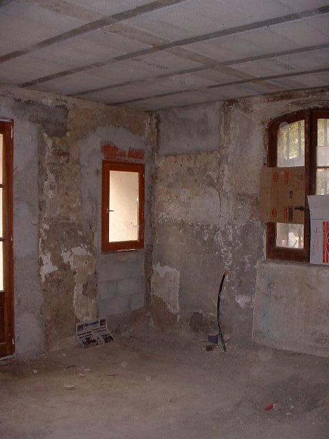 Original back half of garage