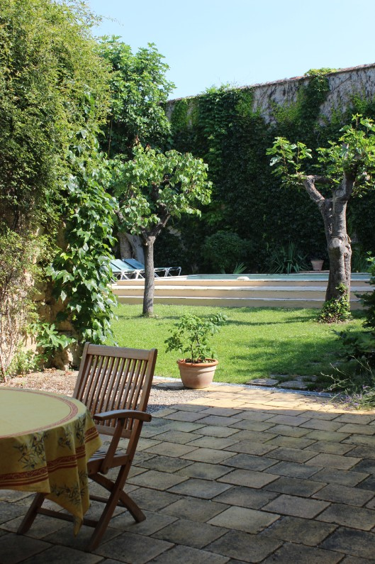 Garden from courtyard