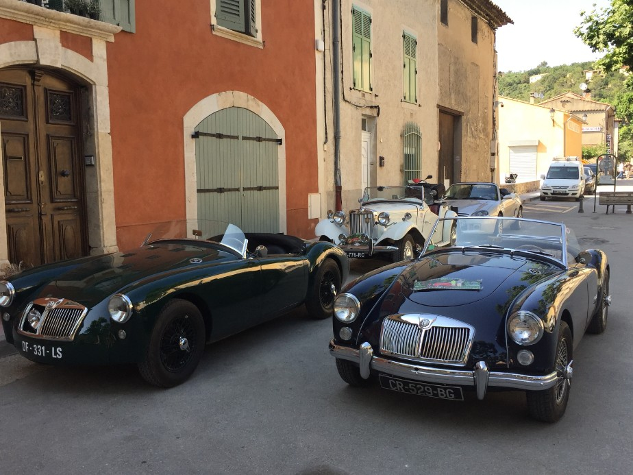 Part of a classic car rally