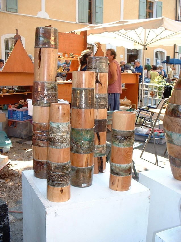 Pottery stalls