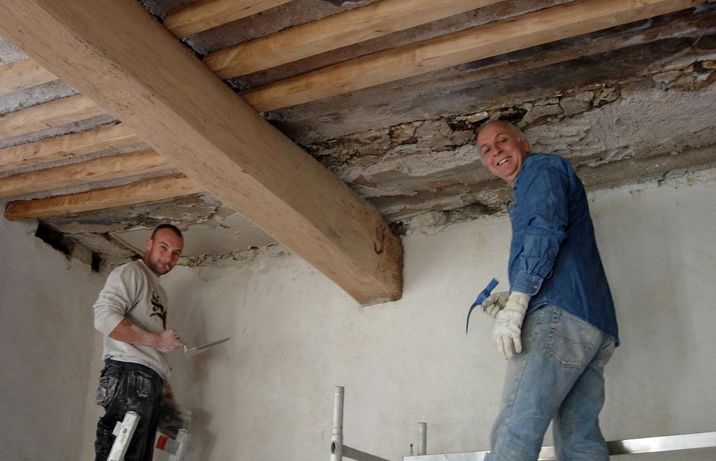 Salon - original ceiling repairs