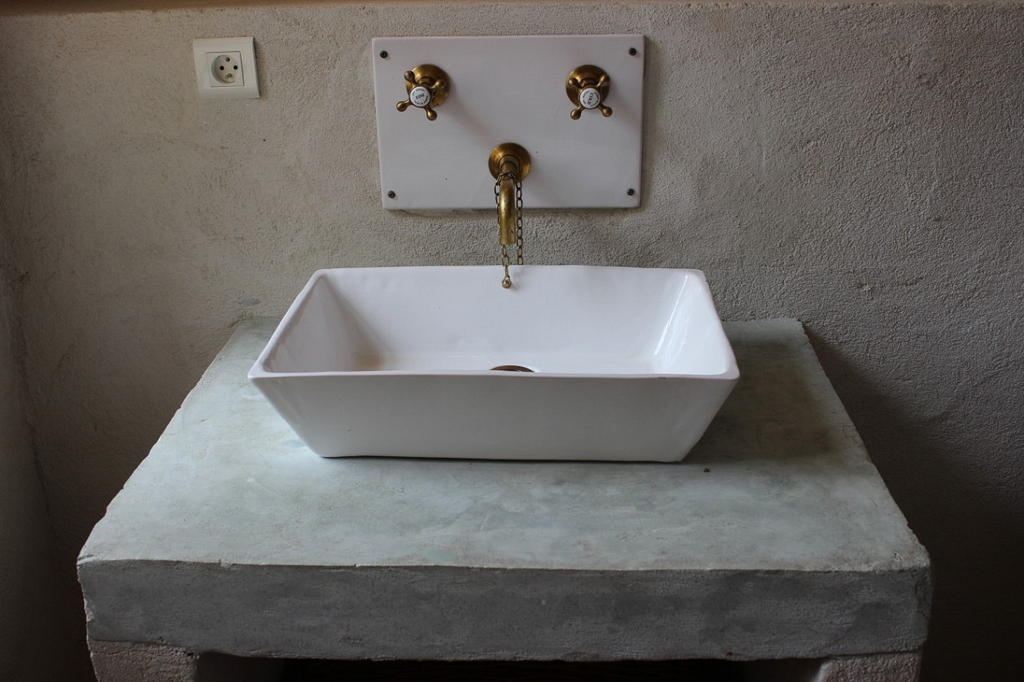 Hand-made bathroom sinks