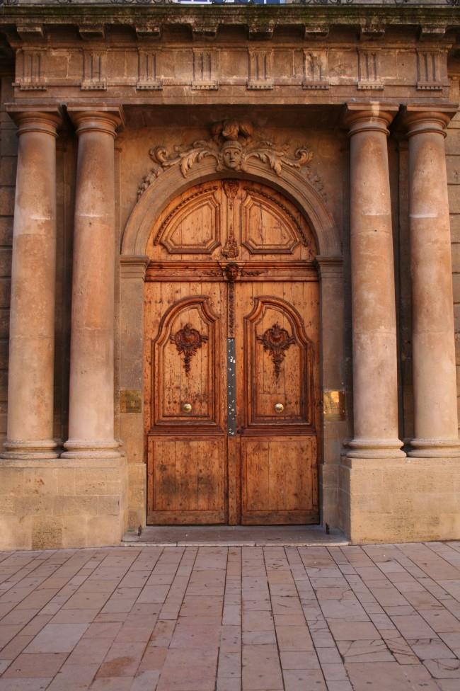 An impressive front door