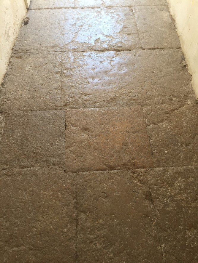 Flagstones in the entrance hall